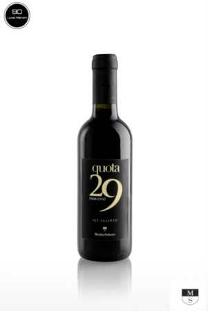 QUOTA 29 375 ml - 100% primitivo 2018 - IGT Salento [Menhir Salento]